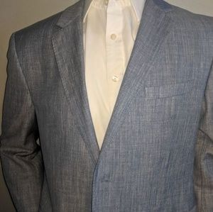 Hugo Boss Linen & Wool Sport Coat 42R Men's Large